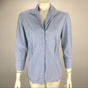 Lafayette 148 Button Blouse Tie Back Shirt Size 4